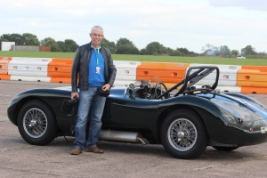 Neil Shanley next to C Type Facory Visit