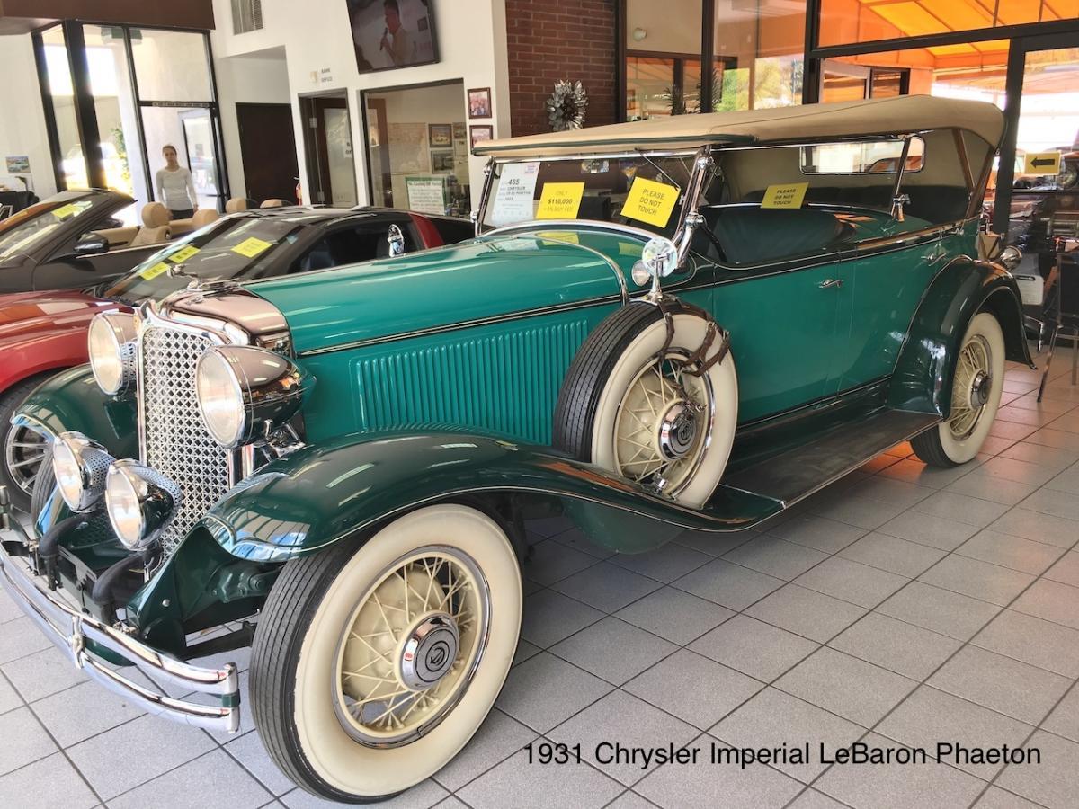 1931 Chrysler Imperial LeBaron Phaeton