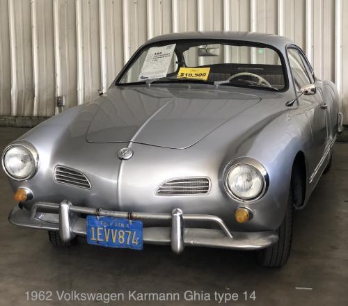 1962 Volkswagen Karmann Ghia type 14