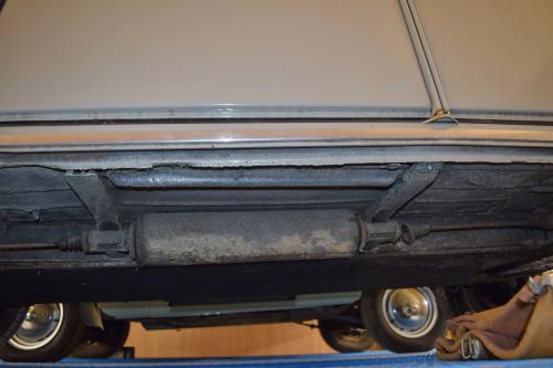 Underneath a Citroen 2CV